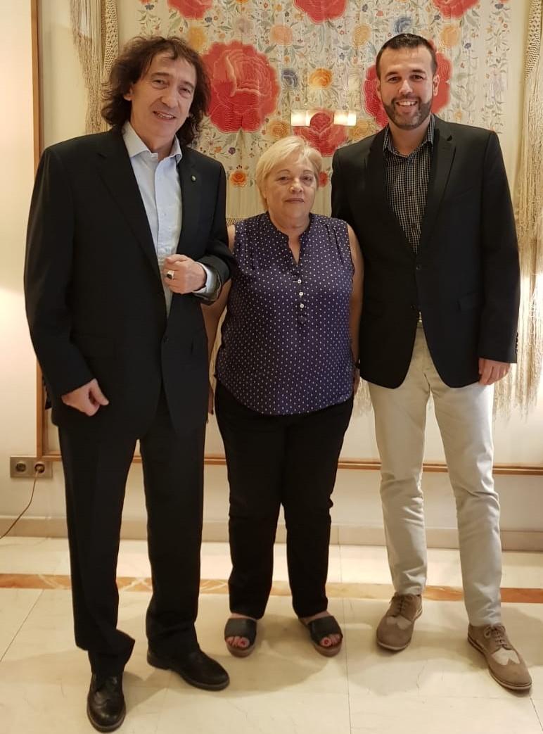 Paolo Alberti con Emilia Escolano e Sergio Vera