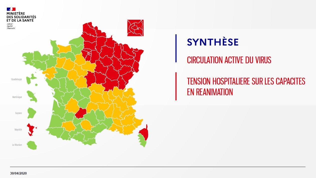 Regioni Francia Cartina.Da Costa Azzurra A Costa Arancione La Mappa Colorata Della Francia Nella Fase2 Tre Criteri Per Aperture O Restrizioni Dall 11 Maggio