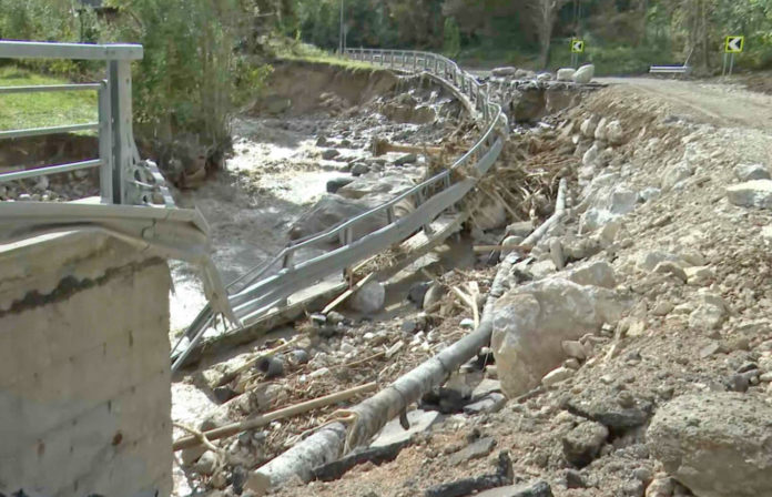 Val Roja Alluvione